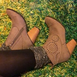 Shoes - taupe ankle booties
